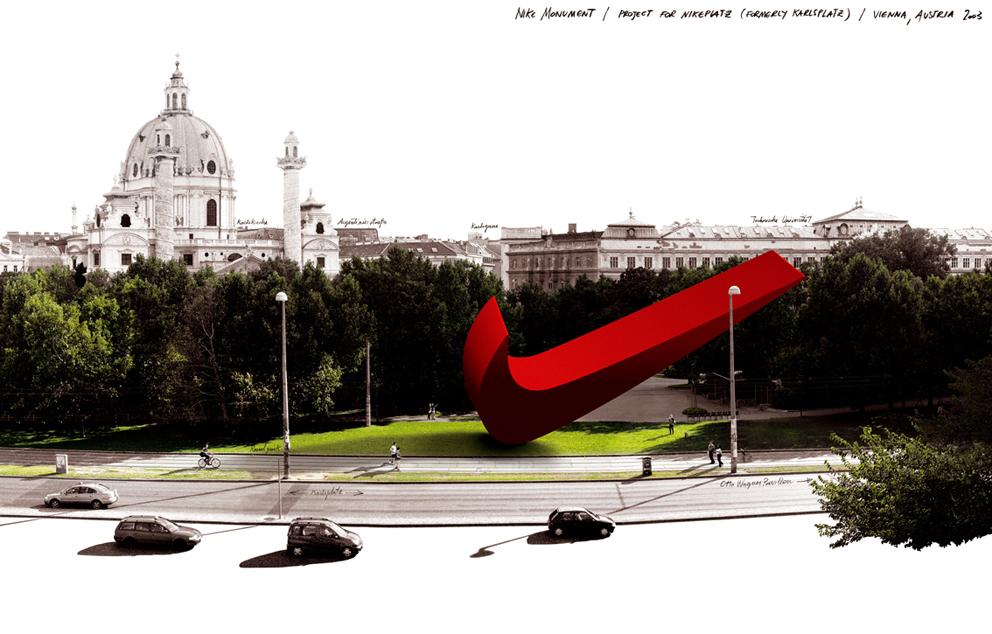 (4) Μακέτα για το μνημείο της Nike, Eva και Franco Mattes, Βιέννη 2003 (φωτ. παραχώρηση των καλλιτεχνών)